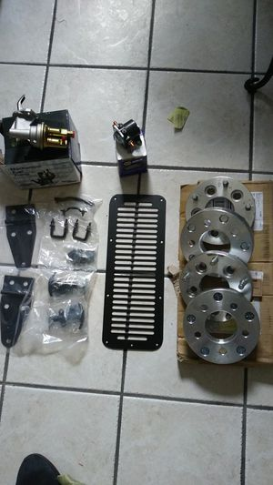 "Jeep hood accessories. Fuel pump/ mech). Starter sol. 1"" wheel spacers. All brand new in boxes for Sale in Stuart, FL"