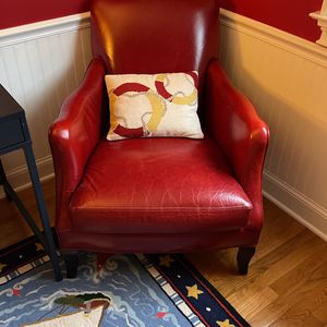 CRATE & BARREL Odeon Leather Chair, Oxblood for Sale in Silver Spring, MD