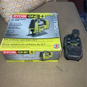Ryobi 18v Brushless Jig saw And One Battery for Sale in Nashville, TN