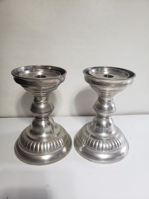 Pair Pewter White Barn Co. Candle Holders for Sale in Orlando, FL