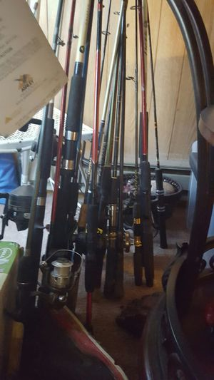 new and vintage fishing poles for Sale in Columbus, OH