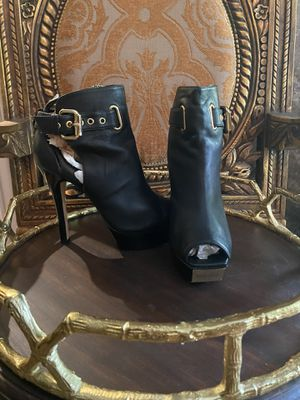 BEBE Gold Strap Open Toe Leather Heel for Sale in The Woodlands, TX