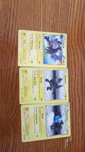 Pokemon cards Luxray, Zekrom, and Thundurus for Sale in Alpharetta, GA