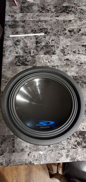 Alpine subwoofer, Sony amp clase D for Sale in San Diego, CA