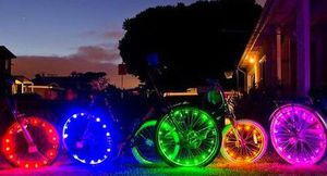 2-pack Bright/Colorful 20-LED Light-Up Bike Wheel Rim Light Christmas Gifts for Sale in Leesburg, VA