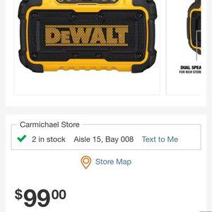 20-Volt MAX Bluetooth Speaker DEWALT for Sale in Sacramento, CA