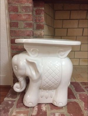 White ceramic elephant table for Sale in Silver Spring, MD
