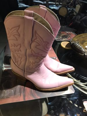 Very cute lady's PINK LEATHER COWBOY BOOTS USA 6 for Sale in PT CHARLOTTE, FL