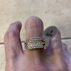 New CZ sterling silver wedding ring 8 for Sale in HOFFMAN EST, IL