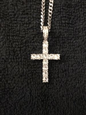 White Gold Plated Cross for Sale in Clemson, SC