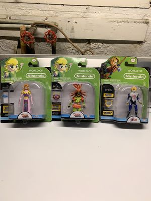 Zelda Nintendo figures new 3 for $25 cash for Sale in Clifton, NJ