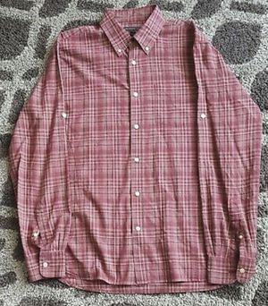 John Varvatos Burgundy Plaid Shirt Medium for Sale in Alexandria, VA