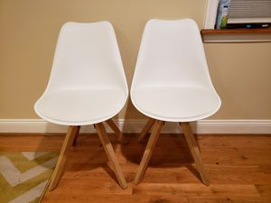 Two white dining chairs for Sale in Baltimore, MD