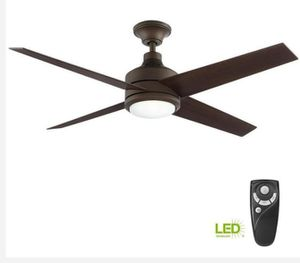 Mercer 52 in. Integrated LED Indoor Oil Rubbed Bronze Ceiling Fan with Light Kit and Remote Control for Sale in Houston, TX