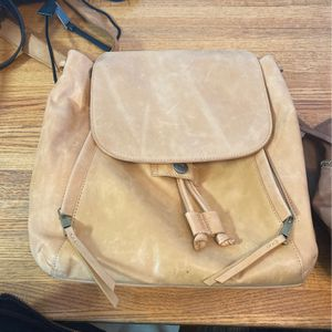 Leather baige purse/backpack for Sale in Glen Ellyn, IL
