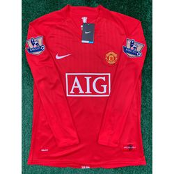 2007/08 Manchester United retro long sleeve soccer jersey for Sale in Raleigh,  NC