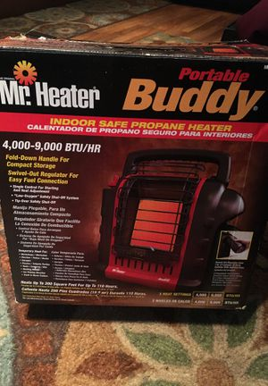 Mr. Heater Portable Buddy Indoor Safe Propane Heater 4,000-9,000 BTU/HR for Sale in East Gull Lake, MN