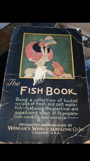 IL. COOKBOOK. 1928 WOMAN'S WORLD FISH BOOK. for Sale in Bolingbrook, IL