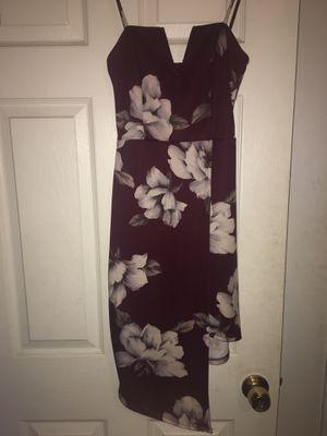 Charlotte Russe burgundy floral dress for Sale in San Diego, CA