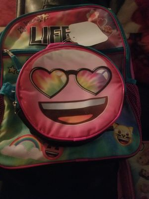 Emoji backpack with lunch pak included for Sale in Bakersfield, CA