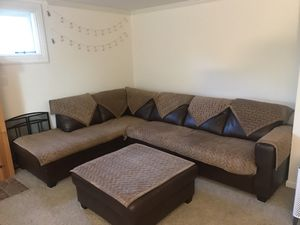 L-Shaped Couch, Chaise & Ottoman for Sale in Maple Valley, WA