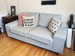 KIVIK sofa with an extra cover & custom wood legs for Sale in Chicago, IL