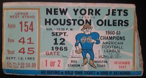 1965 Football Tickets for Sale in Houston, TX