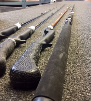 Set Of (4) Fishing Rods (No Reels) As Pictured. Pick Up Only for Sale in Lombard, IL