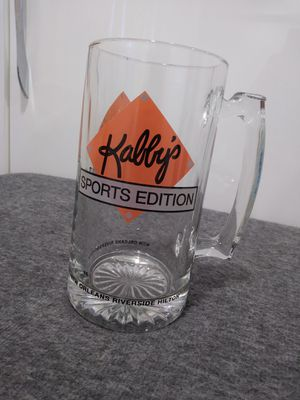 Kabbys Sportsbar New Orleans beer glass/mug LARGE for Sale in Hallandale Beach, FL