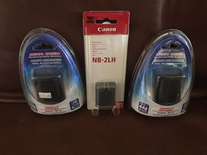 Canon NB-2LH Batteries for Sale in Scottsdale, AZ