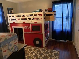 Twin loft fire truck bed for Sale in Middlefield, OH