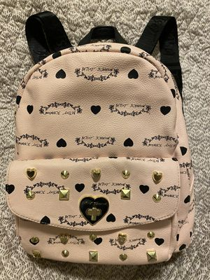 Betsey Johnson light pink and black mini backpack for Sale in Boston, MA