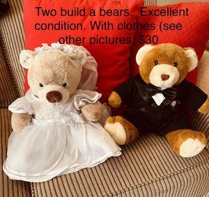Two build a bears and clothes for Sale in Columbia, SC