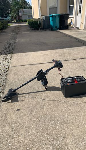 Minn Kota trolling motor and deep cycle battery for Sale in Winter Park, FL