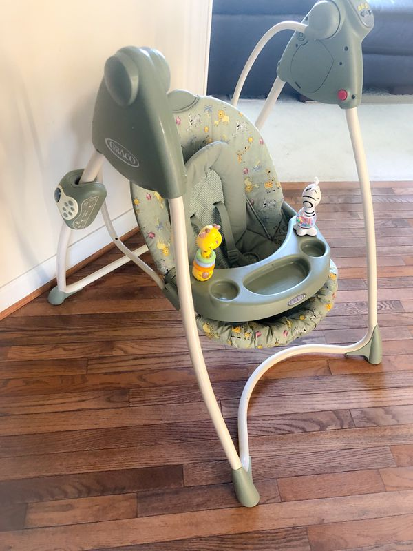 Baby/infant reclining Swing with removable tray and