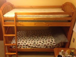 Solid wood bunkbeds and mattresses for Sale in Renton, WA