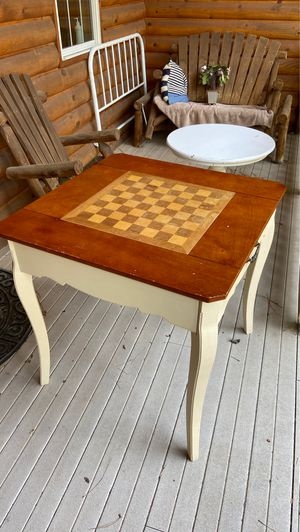 Chess checkers small game table for Sale in Pinetop, AZ