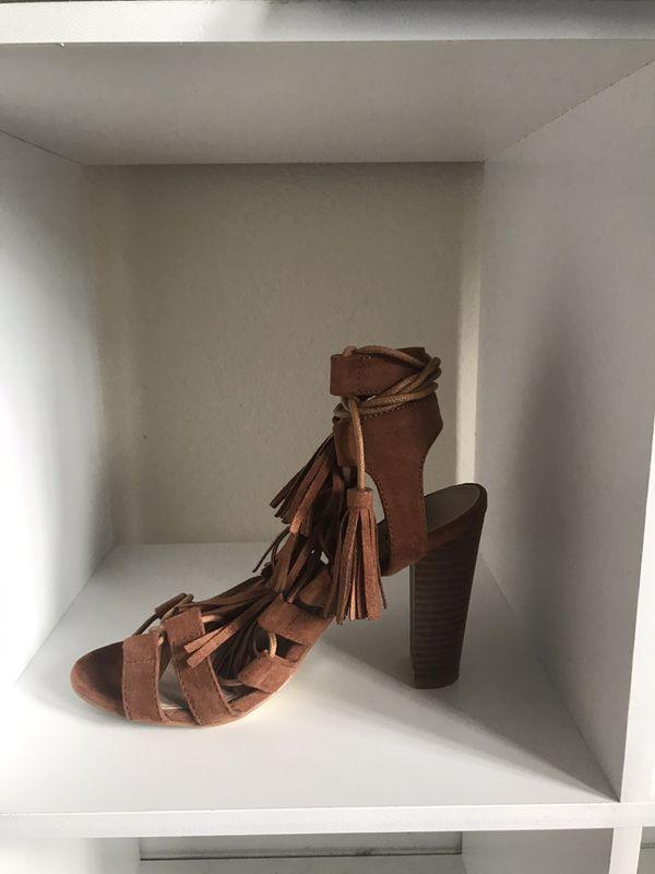 Size 7 Brown Fringe Heels