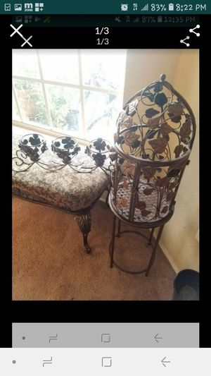 Metal bird cage plant stand and candle holder for Sale in Davenport, FL