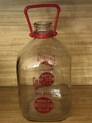 Dishes - Vintage Goldsmith Gallon Milk Bottle for Sale in Colleyville, TX