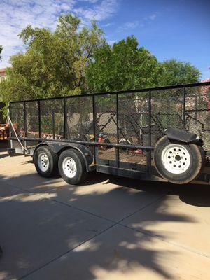 Open double axle trailer 20x7 for Sale in Las Vegas, NV