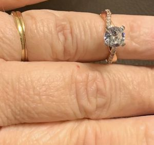 925 Silver 18k Gold Fashion Ring Sz 7 for Sale in Tucker, GA