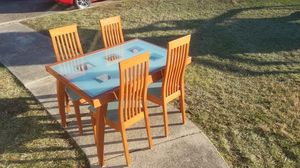 CALLIGARIS Expandable Table 6 Chairs Buffet Dining Set ITALIAN MADE for Sale in Alexandria, VA