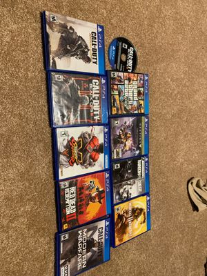 PS4, CHARGING STAND,10 games and brand new headset for Sale in Goddard, KS