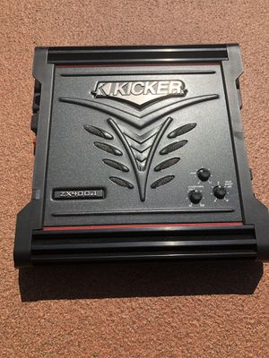 Kicker Amplifier(ZX400.1) and 2 Mounted Kicker 12' Subwoofers for Sale in Orlando, FL