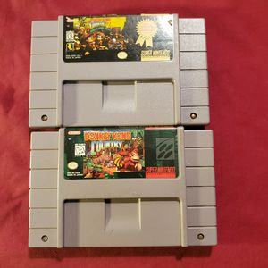 Super Nintendo Donkey Kong Country and Donkey Kong country 2 for Sale in West Monroe, LA