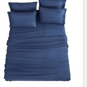 Sonora Kate Bed Sheets 6 Piece Navy Blue CAL KING .. New Wedding Gift Home .. Sabanas Nuevas for Sale in Carson, CA