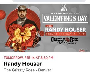 Tickets to tonight's show!! Randy Houser for Sale in Parker, CO