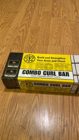 New Gold's Gym - Combo Curl Bar (holds standard weight plates) for Sale in Torrance, CA