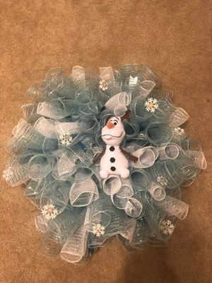 Custom Olaf Wreath for Sale in Lockport, NY
